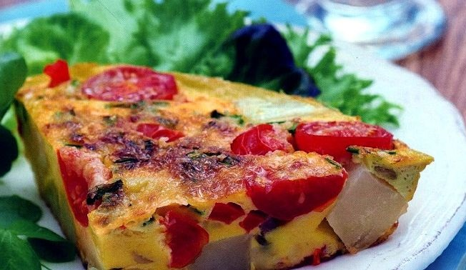 Spanish tortilla omelet with vegetables