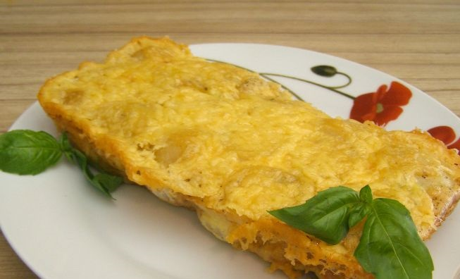 Omelet casserole with potatoes and sausage