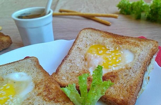 Romantic breakfast