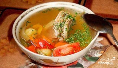 Chicken shurpa with herbs
