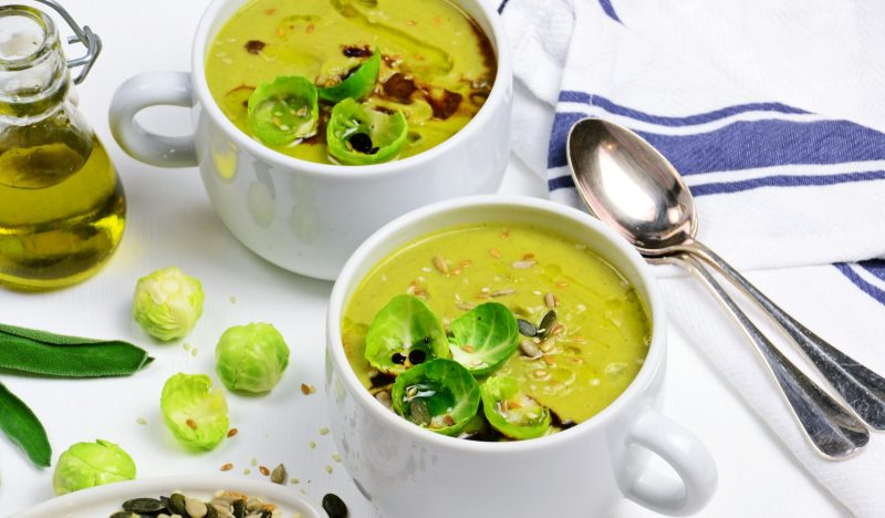 Brussels sprouts puree soup
