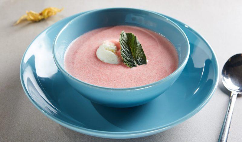 Strawberry puree soup