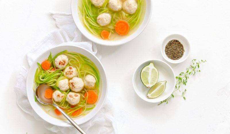 Turkey Meatball Soup with Zucchini