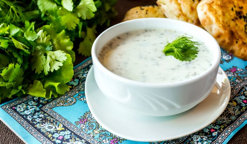 Dovga - a refreshing soup for a hot day