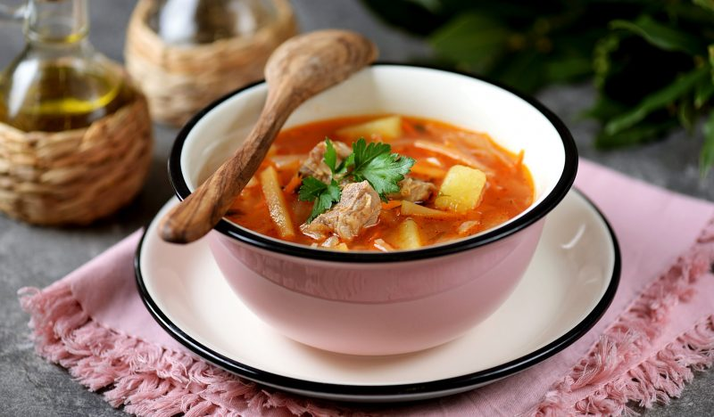 Cabbage soup with turnips
