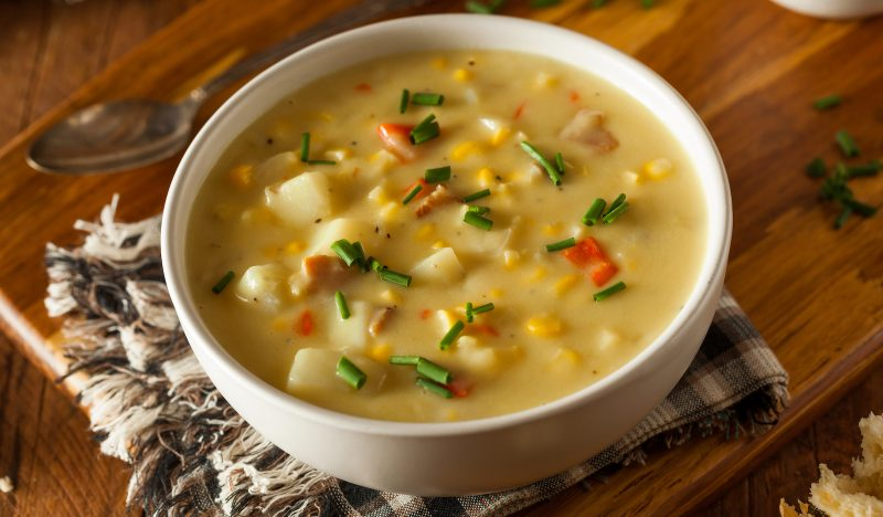 Mexican cheese soup with tomatoes and corn