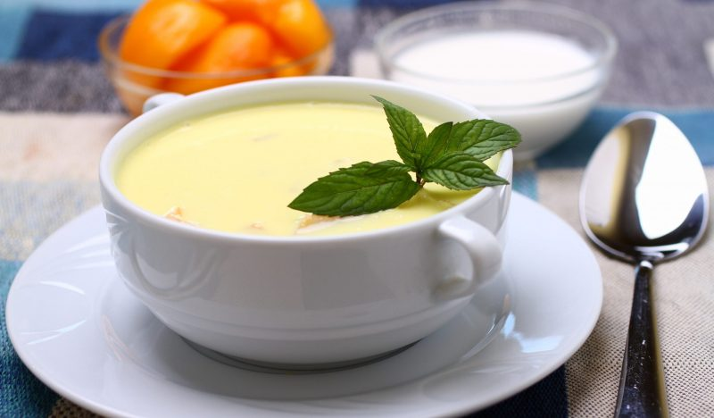 Cold peach soup