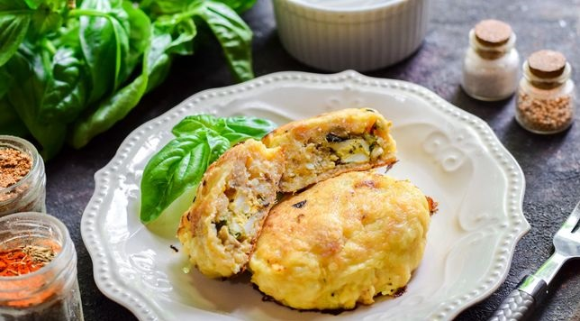 Fish zrazy with egg and mushroom filling