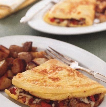 Filled omelet