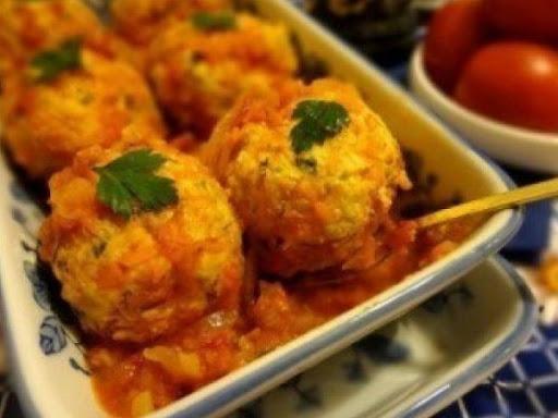 Meatballs with pumpkin