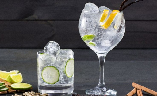 Tequila with tonic