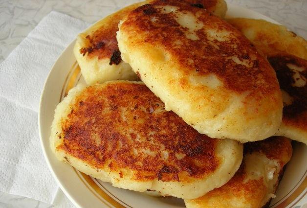 Potato patties with sausage