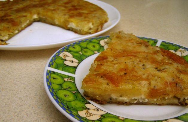 Potato casserole in a pan