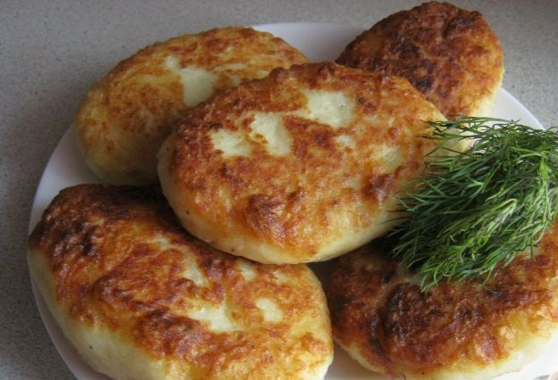 Potato cutlets with liver