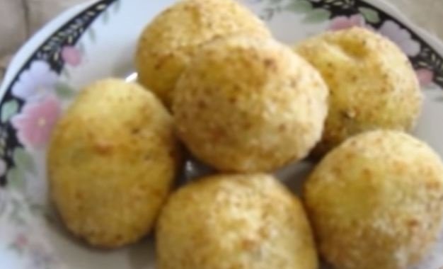 Potato croquettes with mushrooms (in the oven)