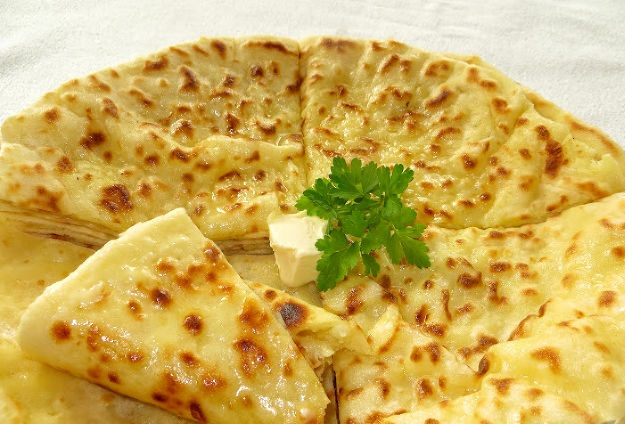 Tortillas on kefir, with potatoes and feta cheese