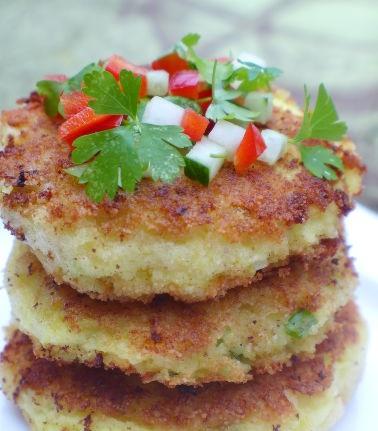 Cheese and potato pancakes