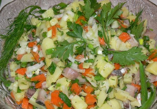 Herring and potato salad