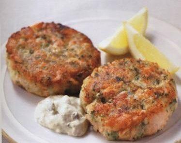Potato and salmon cutlets