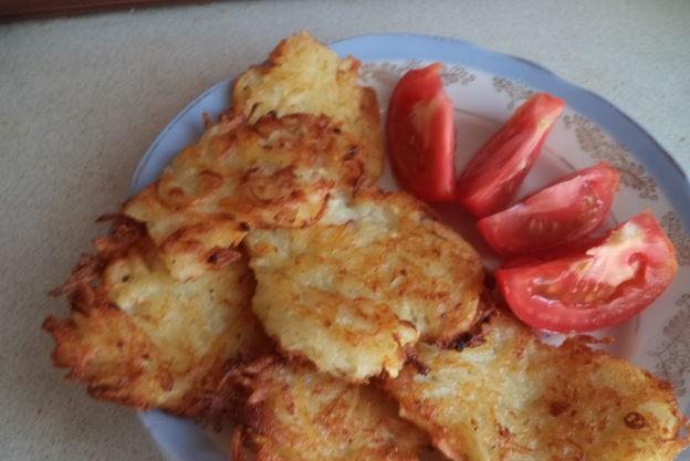 Potato and zucchini pancakes (no eggs)