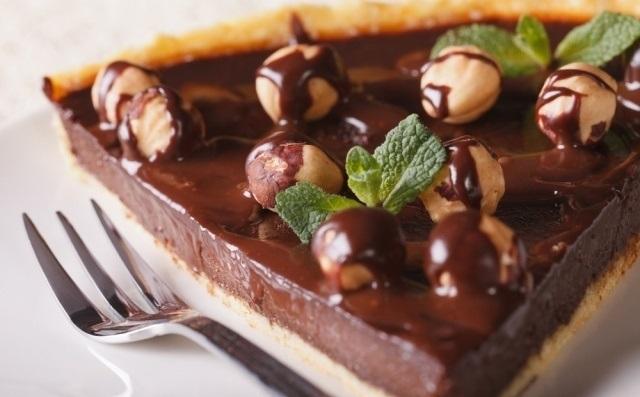 Keto chocolate tart