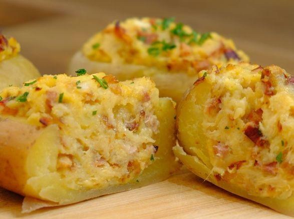 Oven baked stuffed potatoes