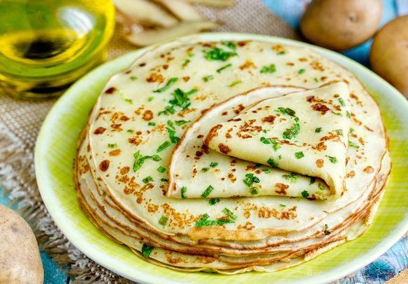 Potato pancakes with herbs