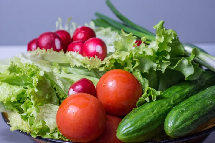 The most summer salad with the freshest vegetables